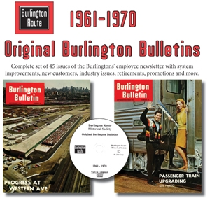 Orig. CB&Q Burlington Bulletin CD