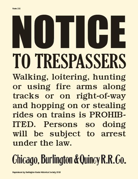 Notice to Trespassers